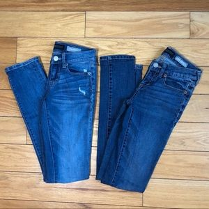 2 pairs of Aeropostale Skinny Jeans Size 000 Long